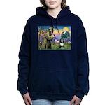 St. Francis & Beardie Women's Hooded Sweatshirt
