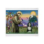 St. Francis & Beardie Throw Blanket