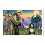 St. Francis & Beardie Sticker (Rectangle 10 pk)