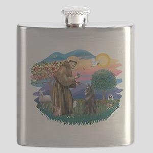 St.Francis #2/ Belgian Shep Flask