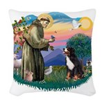 St Francis #2/ BMD Woven Throw Pillow