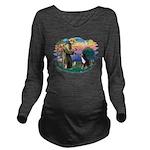 St Francis #2/ BMD Long Sleeve Maternity T-Shirt