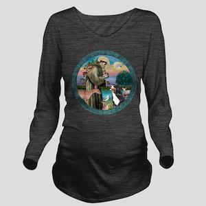 St Francis/Bernese Long Sleeve Maternity T-Shirt