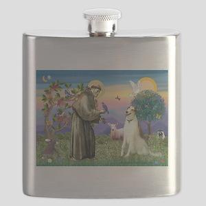 St Francis & Borzoi Flask