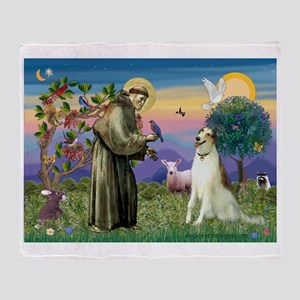 St Francis & Borzoi Throw Blanket