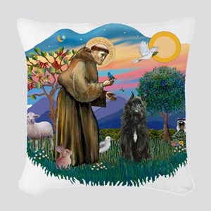 St Francis #2/ Bouvier Woven Throw Pillow