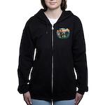 St.Francis #2/ Briard (f) Women's Zip Hoodie
