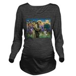 St. Fran. / Brittany Long Sleeve Maternity T-Shirt