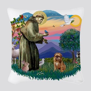 St.Francis #2/ Brussels G Woven Throw Pillow