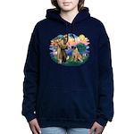 St.Francis #2/ Bull Mastiff Women's Hooded Swe