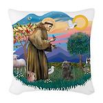 St.Fran #2/ Cairn (br) Woven Throw Pillow