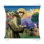 St. Francis Cairn Woven Throw Pillow