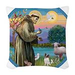 StFran./Chihuahua (LH) Woven Throw Pillow