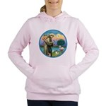 StFran./Chihuahua (LH) Women's Hooded Sweatshirt