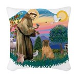 St.Francis #2/ Shar Pei (#3) Woven Throw Pillow