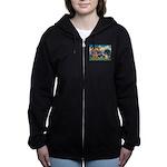 St Francis/Shar Pei #5 Women's Zip Hoodie