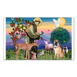 St Francis/Shar Pei #5 Sticker (Rectangle 10 pk)