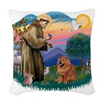 St Francis #2/ Chow (R) Woven Throw Pillow