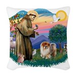 St Francis #2/ Chow (B) Woven Throw Pillow