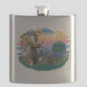 St.Fran #2/ Cocker (black) Flask