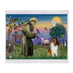 St Francis / Collie Throw Blanket