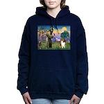 St. Francis & Collie Women's Hooded Sweatshirt