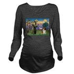 St. Francis & Collie Long Sleeve Maternity T-Shirt