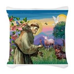 St Francis Doxie Woven Throw Pillow