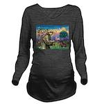St Francis Doxie Long Sleeve Maternity T-Shirt