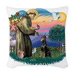 St.Francis #2/ Dobie (cropped Woven Throw Pillow