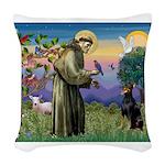 St. Francis Dobie Woven Throw Pillow