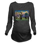 St. Francis Dobie Long Sleeve Maternity T-Shirt