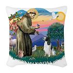 St.Francis #2/ English Spring Woven Throw Pillow