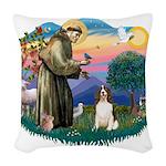 St.Francis #2/ Eng Springer ( Woven Throw Pillow