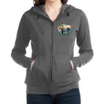 St.Francis #2/ German Shep (P Women's Zip Hood