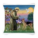 St Francis / G Shep Woven Throw Pillow