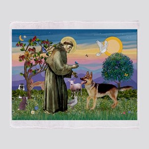 St Francis / G Shep Throw Blanket