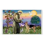 St Francis / G Shep Sticker (Rectangle 10 pk)