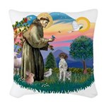 St.Francis #2/ GSHP Woven Throw Pillow