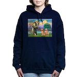 StFrancis-2Goldens Women's Hooded Sweatshirt