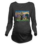 St Francis Golden Long Sleeve Maternity T-Shirt