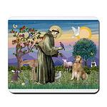St Francis Golden Mousepad