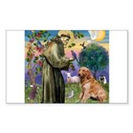 St Francis & Golden Sticker (Rectangle)