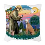 St.Francis #2/ Greyhound Woven Throw Pillow