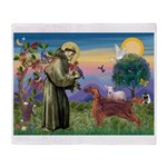 St. Fran./ Irish Setter Throw Blanket