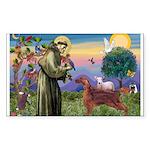 St. Fran./ Irish Setter Sticker (Rectangle 10 pk)
