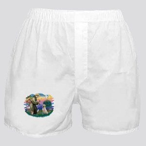 St.Francis #2/ Yellow Lab Boxer Shorts