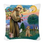 St.Francis #2/ Lakeland T Woven Throw Pillow