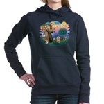St.Francis #2/ Lhasa Apso (# Women's Hooded Sw