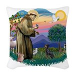 St.Francis #2/ Manchester T Woven Throw Pillow